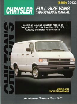 free auto repair manuals 1998 dodge ram van 1500 free book repair manuals 1989 1998 dodge plymouth vans chilton s total car care manual