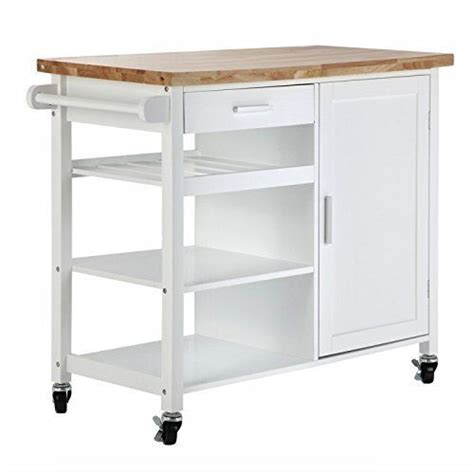 Kitchen Storage Carts Cabinets New White Kitchen Island Wooden Utility Cart Rolling Storage Cabinet 3 Shelves Ebay