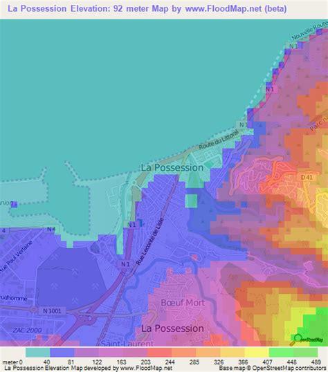 louisiana flood elevation map elevation of la possession reunion elevation map