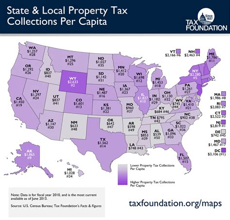 house taxes monday map state local property tax collections per capita tax foundation