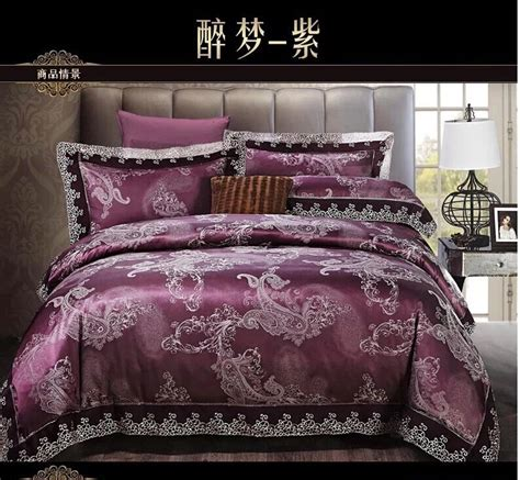purple queen size bedding deep purple paisley bedding set king queen size comforter