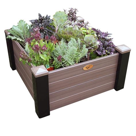 bed enclosure lifetime 4 ft x 4 ft two raised garden beds with one