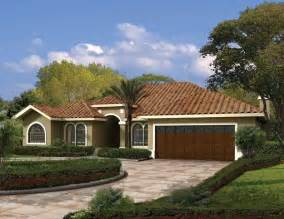 stucco house plans this one story mediterranean style waterfront home has a