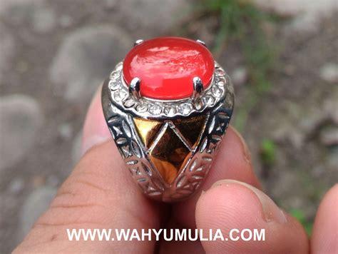 Batu Akik 4 batu cincin akik darah carnelian kode 426 wahyu mulia