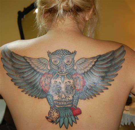 56 best flying owl tattoos