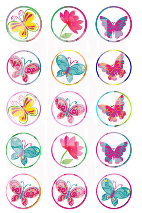 printable butterfly stickers free butterfly with border bottle cap images emailed