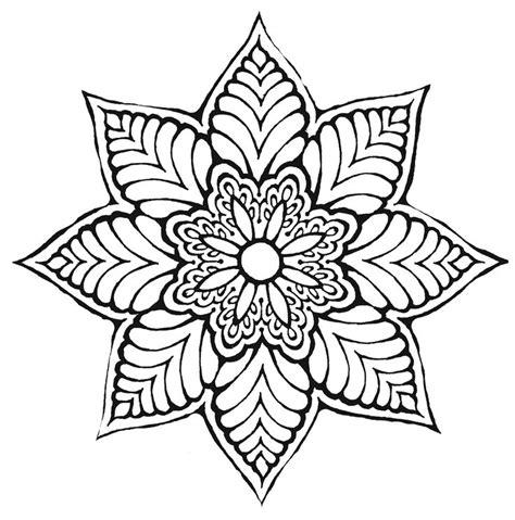 Flower Pattern Mandala | flower mandala ღtrish w http www pinterest com
