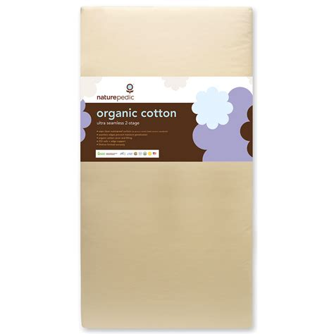 naturepedic organic crib mattress naturepedic mc42 dual firmness organic cotton ultra crib