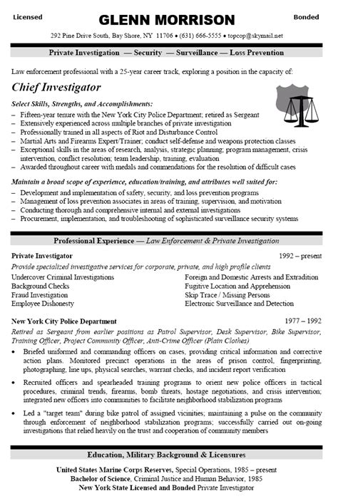 warrant officer resume exles exles of resumes