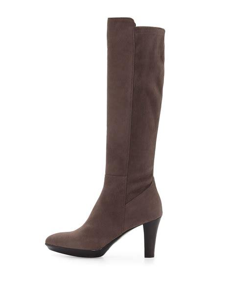 aquatalia raine suede knee high boots in brown lyst