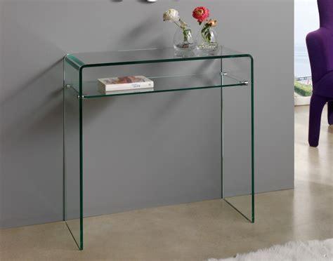 console moderna console moderne verre transparent lestendances fr