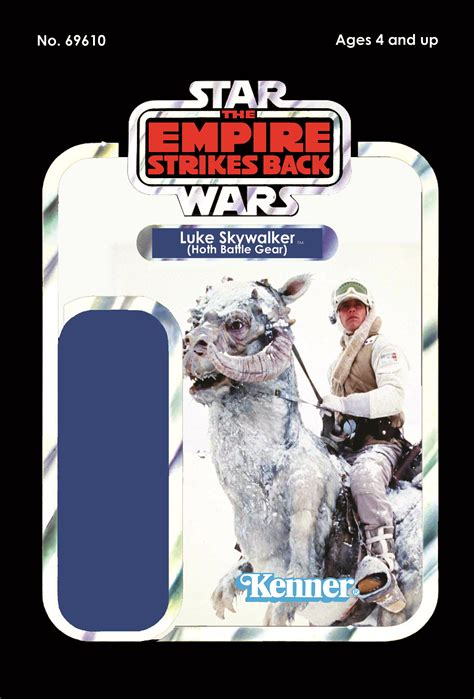 Wars Figure Card Template by Wars Luke Skywalker In Hoth Gear Figure Card