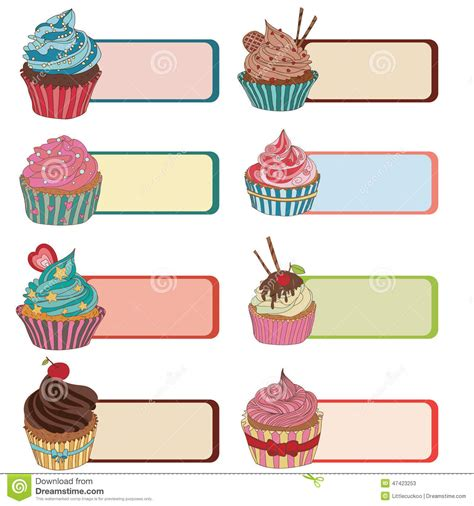 Cupcake Name Tag Template