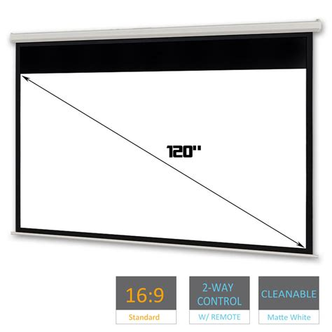 World Screen Motorized 100 Inci 120 quot inch projector screen electric motorised home theatre