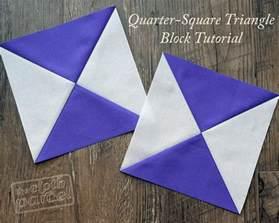 make this quarter square triangle block tutorial