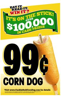 wienerschnitzel announces third annual quot cash in on a corn dog quot sweepstakes - Dog Sweepstakes