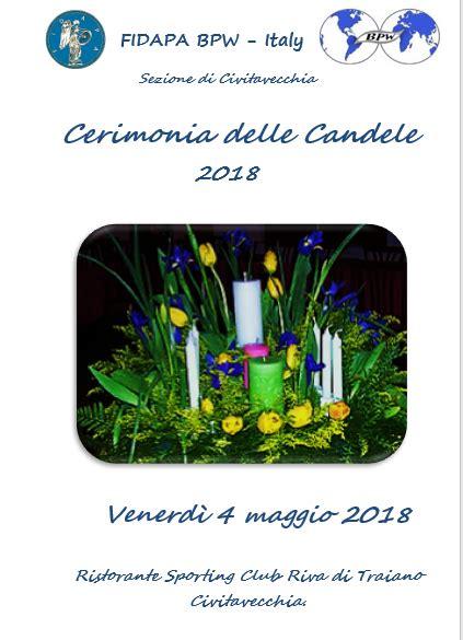 cerimonia delle candele fidapa sezione di civitavecchia sito istituzionale della