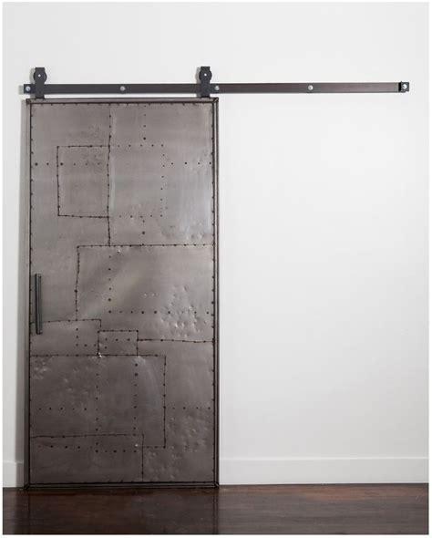 Rustica Hardware Mountain Scrap Metal Door Top Mount Metal Barn Door