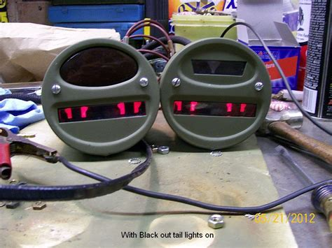 willys jeep blackout light 1943 mb
