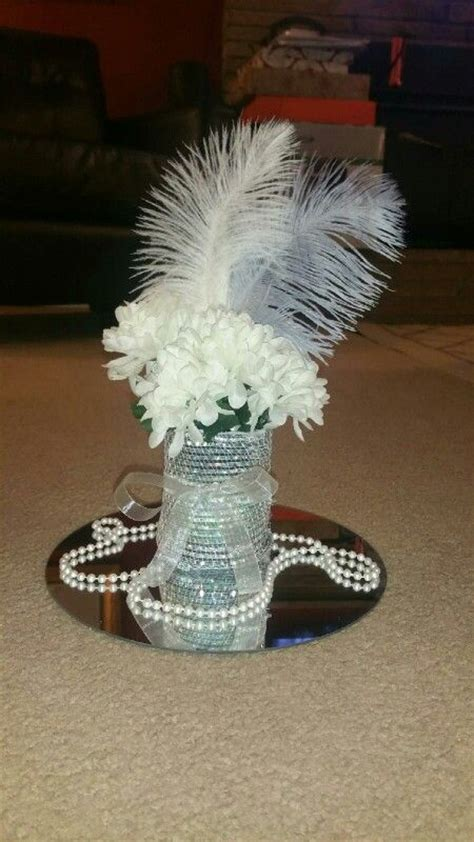 table centerpieces for roaring 20 s party 25th