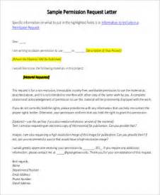 request letter format to permission