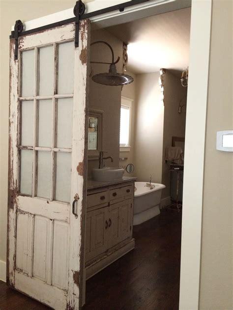 bathroom sliding barn door best 25 sliding barn doors ideas on pinterest
