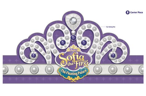 sofia the crown template floating palace tiara disney junior sofia the