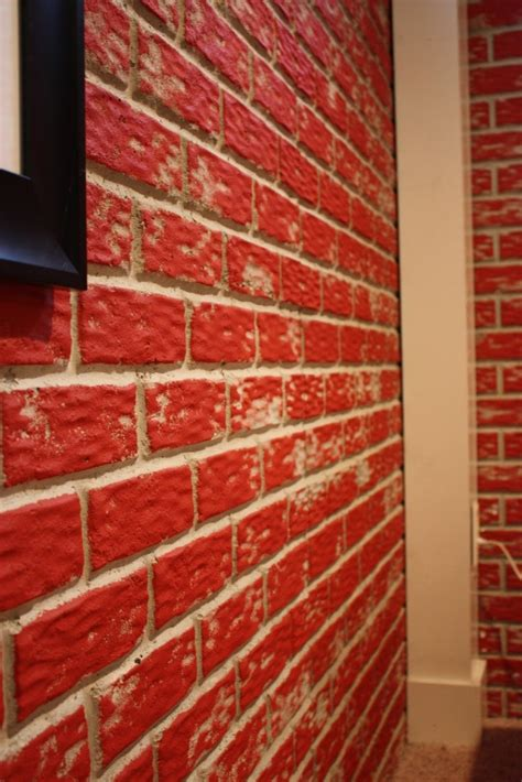 brick basement walls diy aged brick basement walls basement makeover