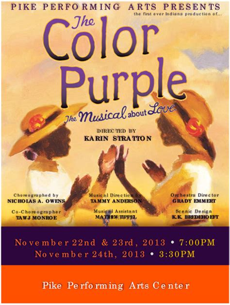 rookie of the year color edition high flyers books the color purple at pike high school performances