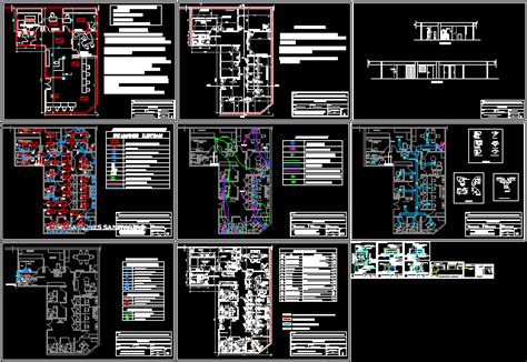 police station project dwg full project  autocad