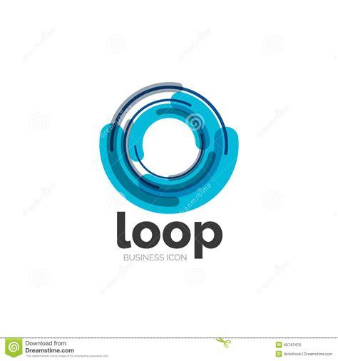 typography loop loop infinity business icon stock vector image 45747476