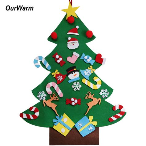 new year 2018 ornaments ourwarm 2018 diy felt tree pendant drop