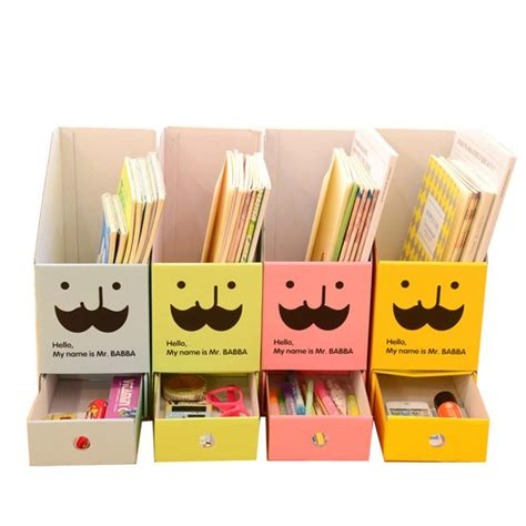 Desk Drawer Paper Organizer Diy Paper Board Storage Box With Drawer Organizer Desk Stationery Documents Book Organizer