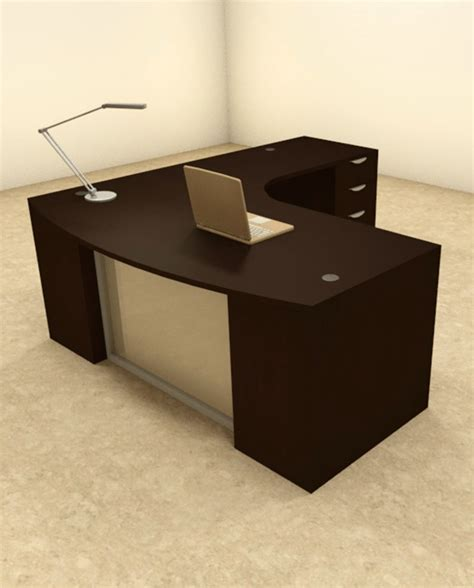 Contemporary Executive Office Desk 3pc L Shaped Modern Contemporary Executive Office Desk Set Of Con L60 Ebay