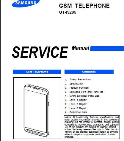 samsung galaxy  active gt  service manual  service manual