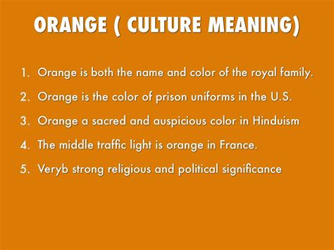 meaning of color orange colours by 17franj