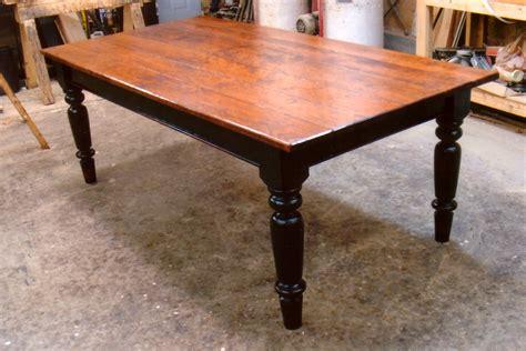 Black Farm Table by Cherry Wood Farmhouse Table