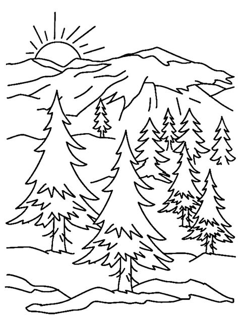 32 mountains coloring page mountain coloring pages