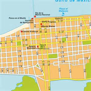 map progreso mexico maps and directions at map