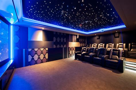 tranquility modern home theater perth by la vie