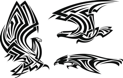 tribal hawk tattoo see the different meanings a bird and be amazed