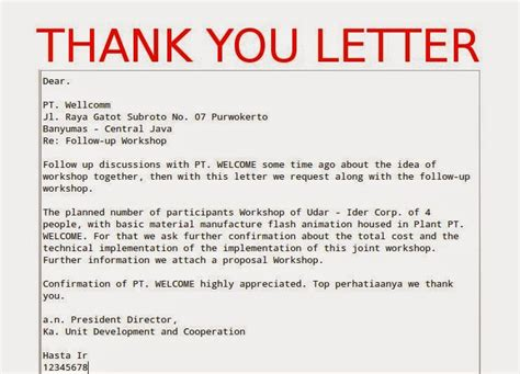 Thank You Letter Vs Email Business Thank You Letter Sles Business Letters