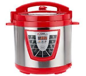 Power pressure cooker xl 8 qt digital with glass lid qvc com