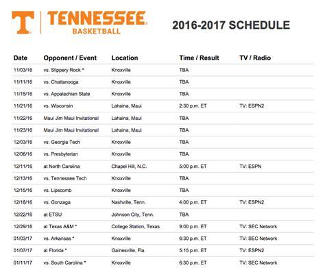 vols basketball schedule basketball scores