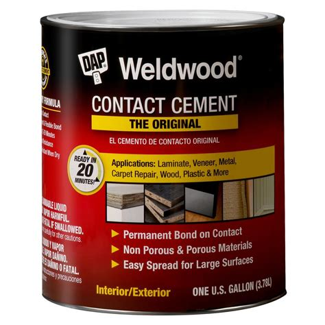dap weldwood 1 qt non flamable contact cement 2 pack