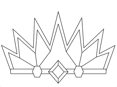 coloring page of a crown for a king crown template free templates free premium templates