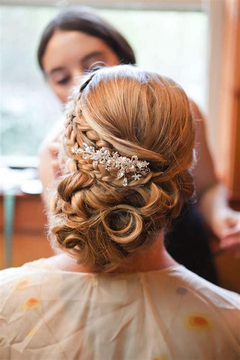 Elegant bridal updo with hair piece   Wedding Hairstyles
