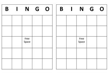 bingo cards templates free free bingo template by gerardi teachers pay teachers