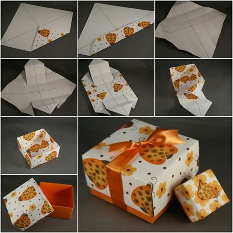 Diy Origami Box - how to diy paper origami gift box with lid