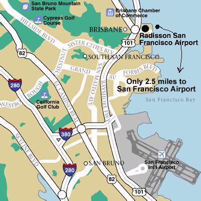 san francisco international map san francisco international airport ca usa